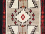 (Sold) Navajo Rug with Crosses and Arrows