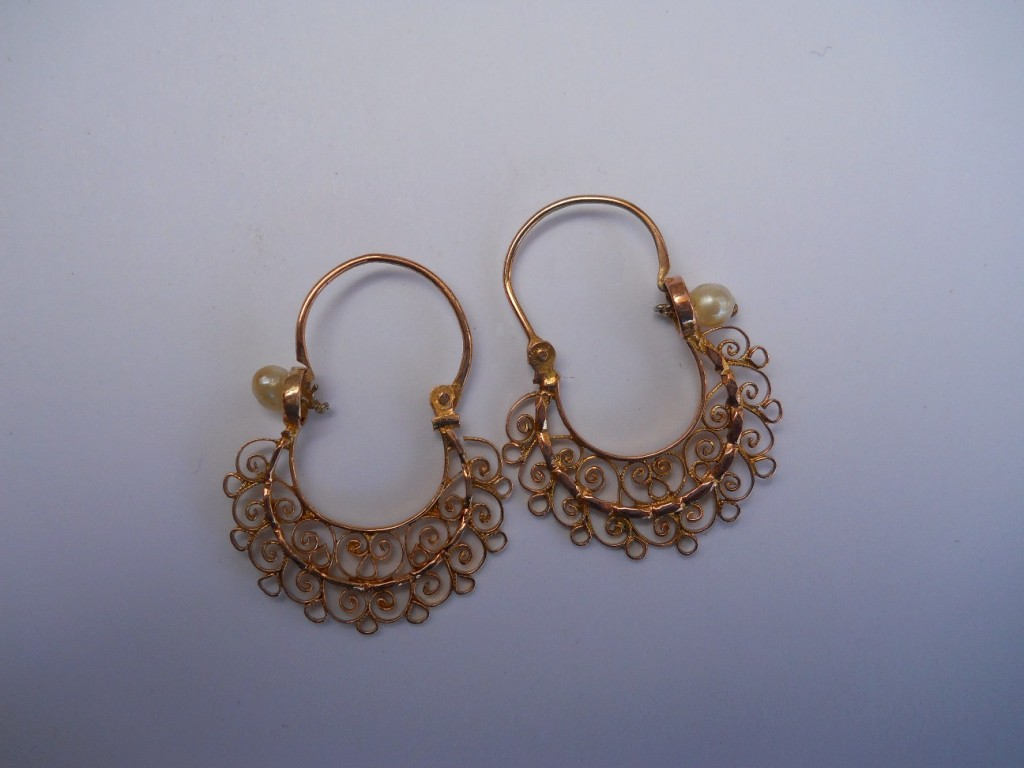 gold mexican hoop earrings cayuse western americana