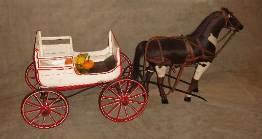 Store Display Horse And Wagon