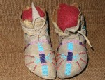 (Sold) Crow Child's Moccasins