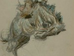 W.H.D. Koerner – Bucking Horse Sketch