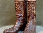 Vintage Lucchese Crocodile Boots