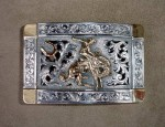 (Sold) Clint Orms – Filigree Bronc Rider Buckle
