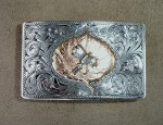 Clint Orms Aspen Leaf & Fly Trophy Buckle