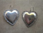 (SOLD) Susan Adams Sterling Heart Earrings