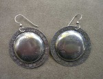 (SOLD) Susan Adams Concho Style Earrings
