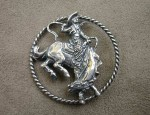 Susan Adams Sterling Bronco Pin