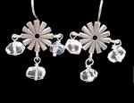 Susan Adams Rowel With CZ Drops Earrings