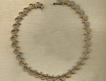 Susan Adams Gold and Sterling Scroll Necklace