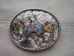 (Sold) Ernie Marsh – Cowgirl Bronc Buckle
