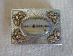 Ed Klapmeier Silver and Gold Buckle with Agate