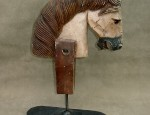 Wooden Horse Head Sculpture