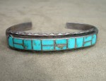 Narrow Zuni Inlay Bracelet