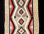 (SOLD) Navajo Rug With Keyed Border