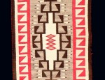 Crystal Navajo Rug With Feathers