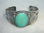 Large Navajo Ingot Fan Bracelet
