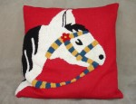 Chenille Horse Pillow
