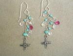 Dawn Bryfogle Vintage Cross Charm Earrings