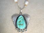 Dawn Bryfogle Vintage Turquoise Pendant Necklace