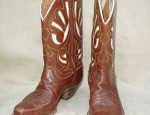 Vintage Justin Brown& Cream Boots