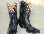 Vintage Nocona Black & Cream Boots