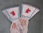 (Sold) – Cowgirl's Beaded Gauntlet Gloves