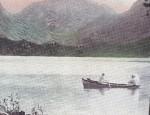 Vintage Hand Colored Calendar Lithograph – Glacier #265