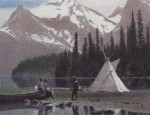 Vintage Hand Colored Calendar Lithograph – Glacier #246