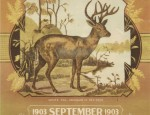 Bemis Bros. Calendar Lithograph – White Tail Deer