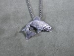 (sold) Tony Sanchez – Sterling & Sapphire Trout Necklace