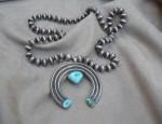 Navajo Beads and Naja Necklace