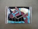 (sold) Helen Zunie Horse Belt Buckle