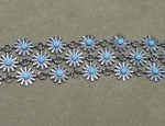 Susan Adams 3 Row Rowel and Turquoise Bracelet