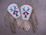 (Sold) Blackfoot Beaded Gauntlet Gloves