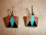 Zuni Stylized Thunderbird Earrings