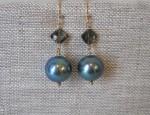 Dawn Bryfogle – Freshwater Pearls and Tourmaline Diamond Drop Earrings