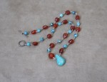Dawn Bryfogle – Turquoise and Carnelian Necklace
