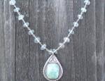 Dawn Bryfogle – Vintage Navajo Penant with Aquamarine