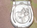 (Sold) Horseshoe Shaped Purse, circa 1920′s.
