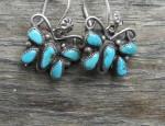 (Sold) – Zuni Butterfly Earrings