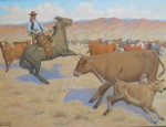 Charitible Sale: J. Clinton Shepherd – Roping a Calf