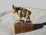 Mountain Goat carving by John L. Clarke