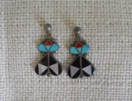 Zuni Stylized Earrings Circa 1960