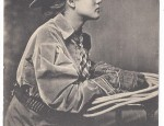 Cowgirl Lithograph Postcard Circa 1909