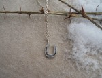 (Sold) – Susan Adams – Horseshoe pendant