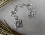 (Sold) Margaret Sullivan –  14kt Gold and Silver Horseshoe Necklace