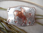 Margaret Sullivan – Silver and Copper Luck of the Draw Buckle