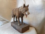 (Sold) John Clarke – Wolf Carving