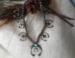 Sandcast Squash Blossom Necklace