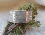 Coin Silver Cuff Bracelet